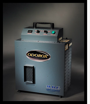 The Odorox MDU Mobile Disinfection Unit is finely tuned to treat odors associated with bacterial, viral and mold contamination up to a 2000 sqft space.