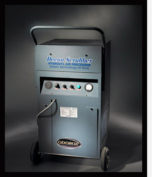 The most advanced indoor air scrubber decontamination technology for removal and decontamination of large volumes of particulate and pollutants from the air.